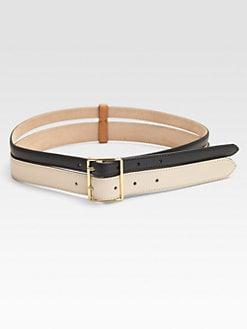 Vionnet - Colorblocked Double Row Leather Belt