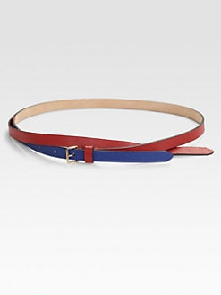 Vionnet - Layered-Look Cross-Over Pebbled Leather Belt