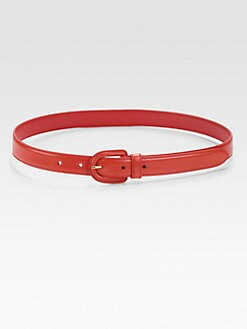 Prada - Skinny Madras Leather Belt