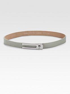 Diane von Furstenberg - Logo Turn-Lock Leather Belt