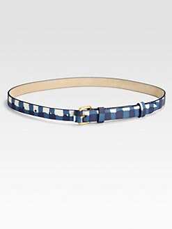 Marc by Marc Jacobs - Molly Check Leather Belt