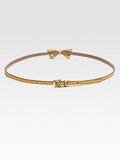 Miu Miu - Cinture Skinny Bow Belt