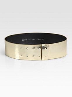 Diane von Furstenberg - Jill Mirror Leather Belt