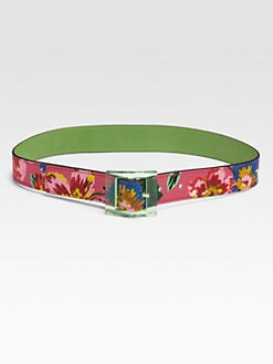 Kate Spade New York - Reversible Printed Leather Belt