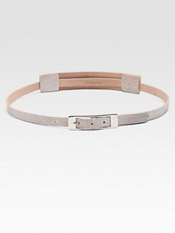 Maison Martin Margiela - Metallic Accented Leather Belt