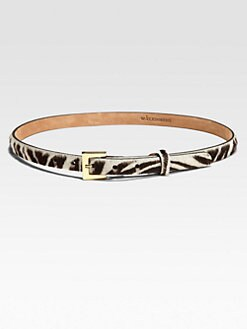 W. Kleinberg - Animal-Print Calf Hair Belt