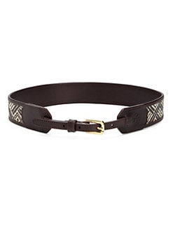 Tory Burch - Woven Straw Belt