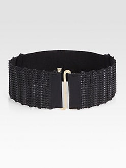 Tory Burch - Braided Leather Stretch Belt