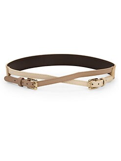 Tory Burch - Crossed Leather Belt