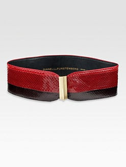 Diane von Furstenberg - Era Watersnake Belt