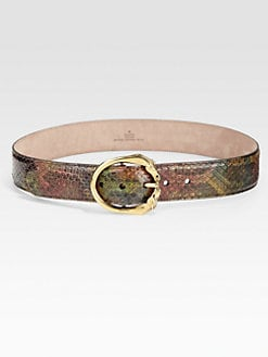 Gucci - Horse-Head Buckle Leather Belt