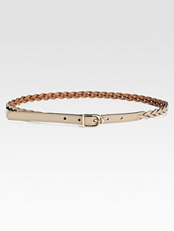 Gucci - Selleria Braided Spur Buckle Leather Belt