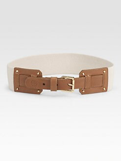 Tory Burch - Amy Leather Accented Belt