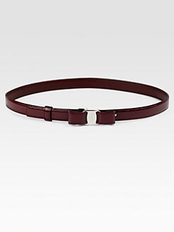 Salvatore Ferragamo - Miss Vara Patent Leather Belt