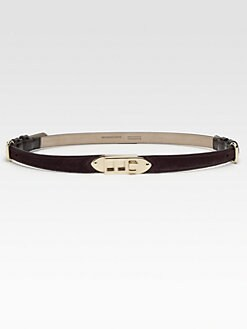 Burberry - Skinny Suede Belt