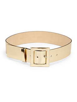 Kate Spade New York - Metallic Leather Wide Belt