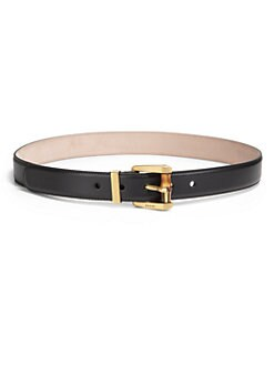 Gucci - Leather Bamboo-Detail Belt