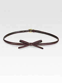 Prada - Saffiano Leather Bow Belt