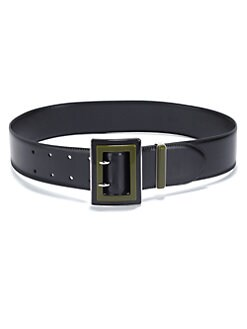 Prada - Spazzolato Polished Leather Belt
