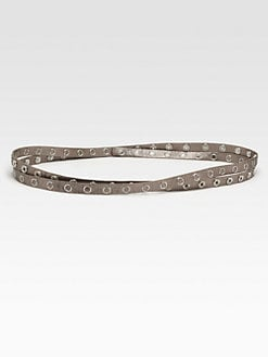 Diane von Furstenberg - Haley Grommet Leather Belt
