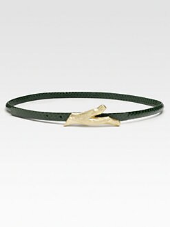 Diane von Furstenberg - Twig Leather Skinny Belt