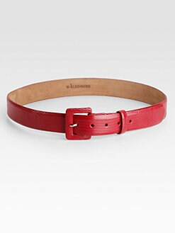 W. Kleinberg - Lizard & Leather Belt