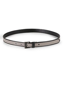 Prada - Bicolor Saffiano Leather Belt