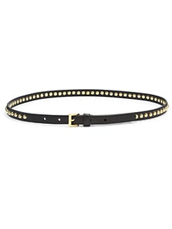 Prada - Studded Saffiano Leather Belt