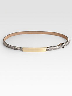 W. Kleinberg - Embossed Python Leather Belt