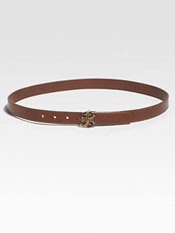 Tory Burch - Leather Logo Belt
