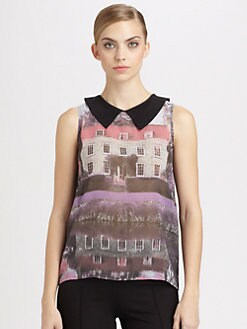 Moschino Cheap And Chic - Silk Countryside Top