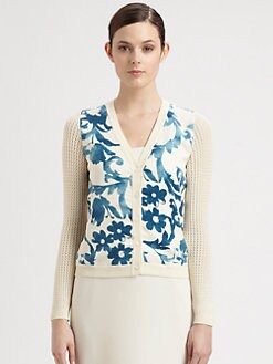Moschino Cheap And Chic - Pottery Print Cardigan