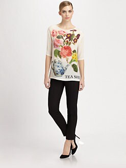 Moschino Cheap And Chic - Printed Silk Tee