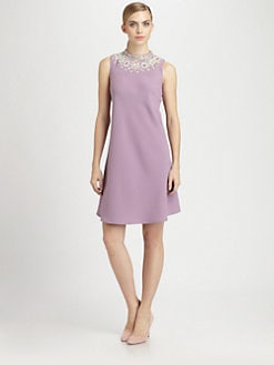Moschino Cheap And Chic - Jeweled Satin Dress