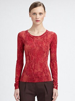 Moschino Cheap And Chic - Python-Print Crewneck Sweater