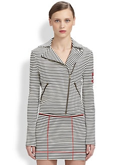 Moschino Cheap And Chic - Striped Moto Jacket
