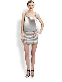 Moschino Cheap And Chic - Striped Stretch Jersey Dress