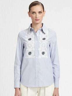 Moschino Cheap And Chic - Embroidered Striped Shirt