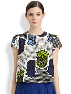 Moschino Cheap And Chic - Pineapple Print Poplin Top