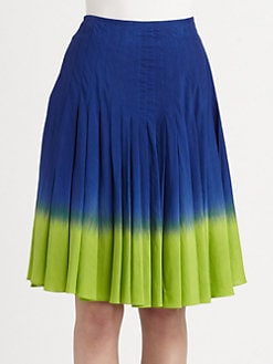 Moschino Cheap And Chic - Mini Pleat Degradé Skirt