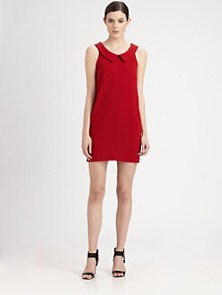 Moschino Cheap And Chic - Collared Crepe Dress