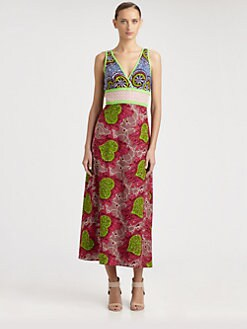 Moschino Cheap And Chic - Printed Canvas Maxi Dress