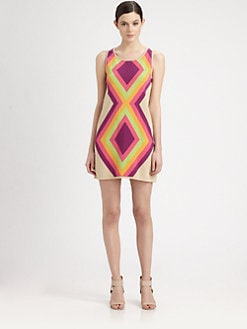 Moschino Cheap And Chic - Diamond Intarsia-Knit Dress