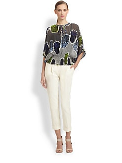 Moschino Cheap And Chic - Silk Pineapple Print Blouse