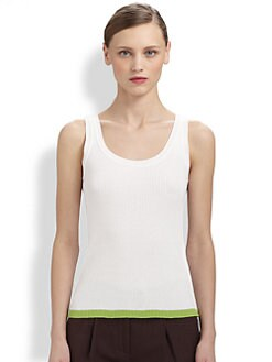Moschino Cheap And Chic - Ribbed Contrast Tank