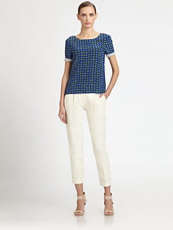 Moschino Cheap And Chic - Beaded Silk Dot Blouse