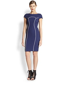 Moschino Cheap And Chic - Contrast Piping Dress