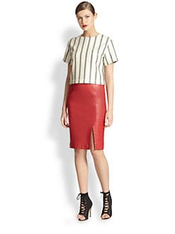 Moschino Cheap And Chic - Cropped Stripe Top