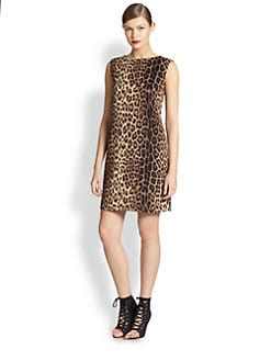 Moschino Cheap And Chic - Leopard Sheath Dress