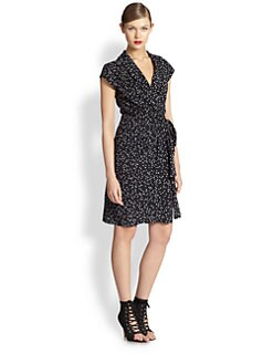 Moschino Cheap And Chic - Star Silk Wrap Dress